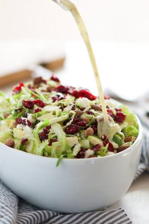 Spring Shaved Brussels Sprout Salad with Lemon Poppyseed Dressing is a ...