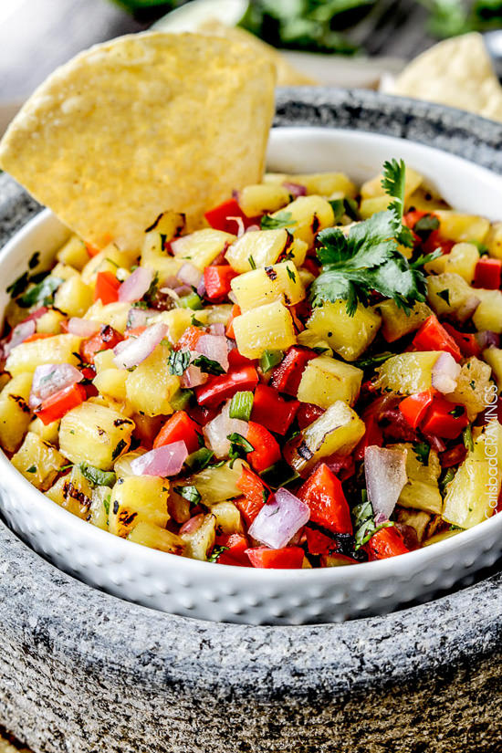 Grilled Pineapple Salsa | Carlsbad Cravings