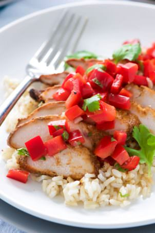 Ranch Pork Chops with Grilled Jalapeno Corn Salsa - With ...