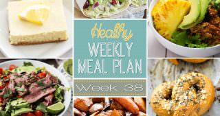 Healthy Meal Plan Week #38