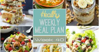 Healthy Meal Plan Week #40