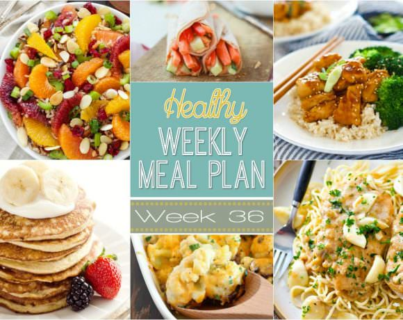 Healthy Meal Plan Week #36
