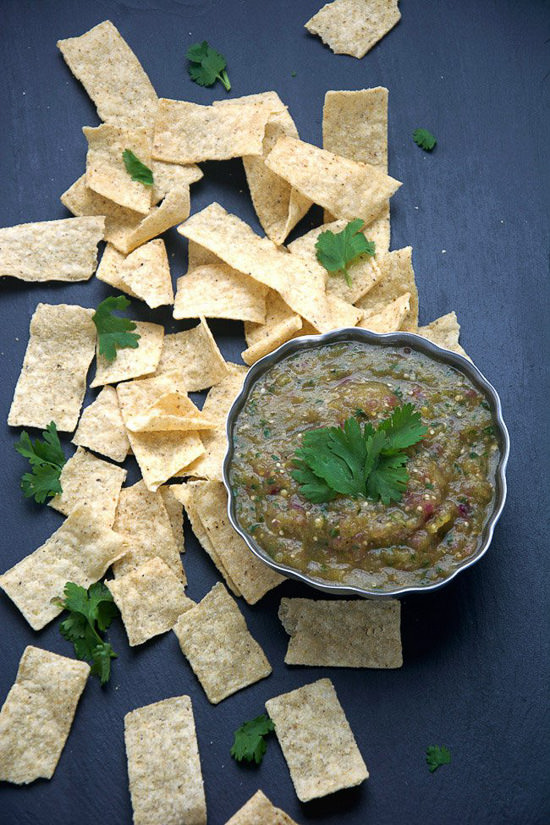 Roasted Hatch Chile Salsa Verde   With Salt and Wit