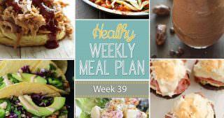 Healthy Meal Plan Week #39