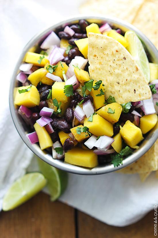 Mango Black Bean Salsa | Crème de la Crumb