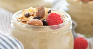 Almond, Coconut & Vanilla Latte Overnight Oats