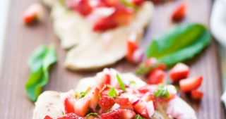 Balsamic Grilled Chicken with Strawberry Mint Salsa + 30 Minute Thursday