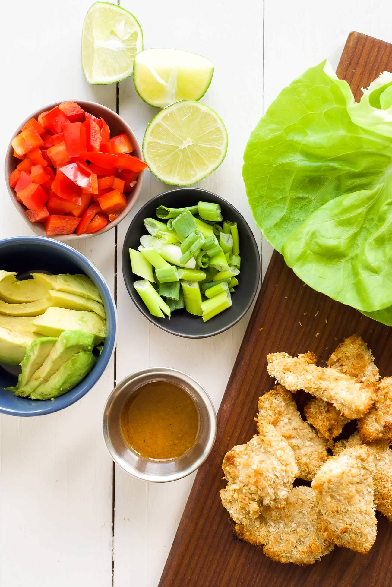 Cashew Coconut Crusted Chicken Lettuce Wraps are our new favorite hand ...