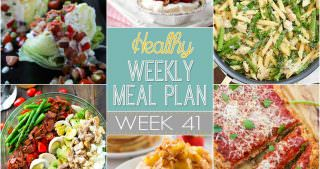 Healthy Meal Plan Week #41