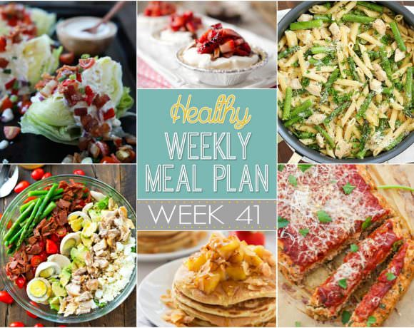 This week we start meatless Monday off with a spring filled Brussels sprouts salad then have hearty and healthy dishes such as Italian Meatloaf with Parmesan Rosemary Smashed Potatoes...oh yum!