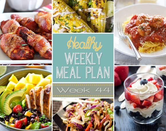 Healthy Meal Plan Week #44