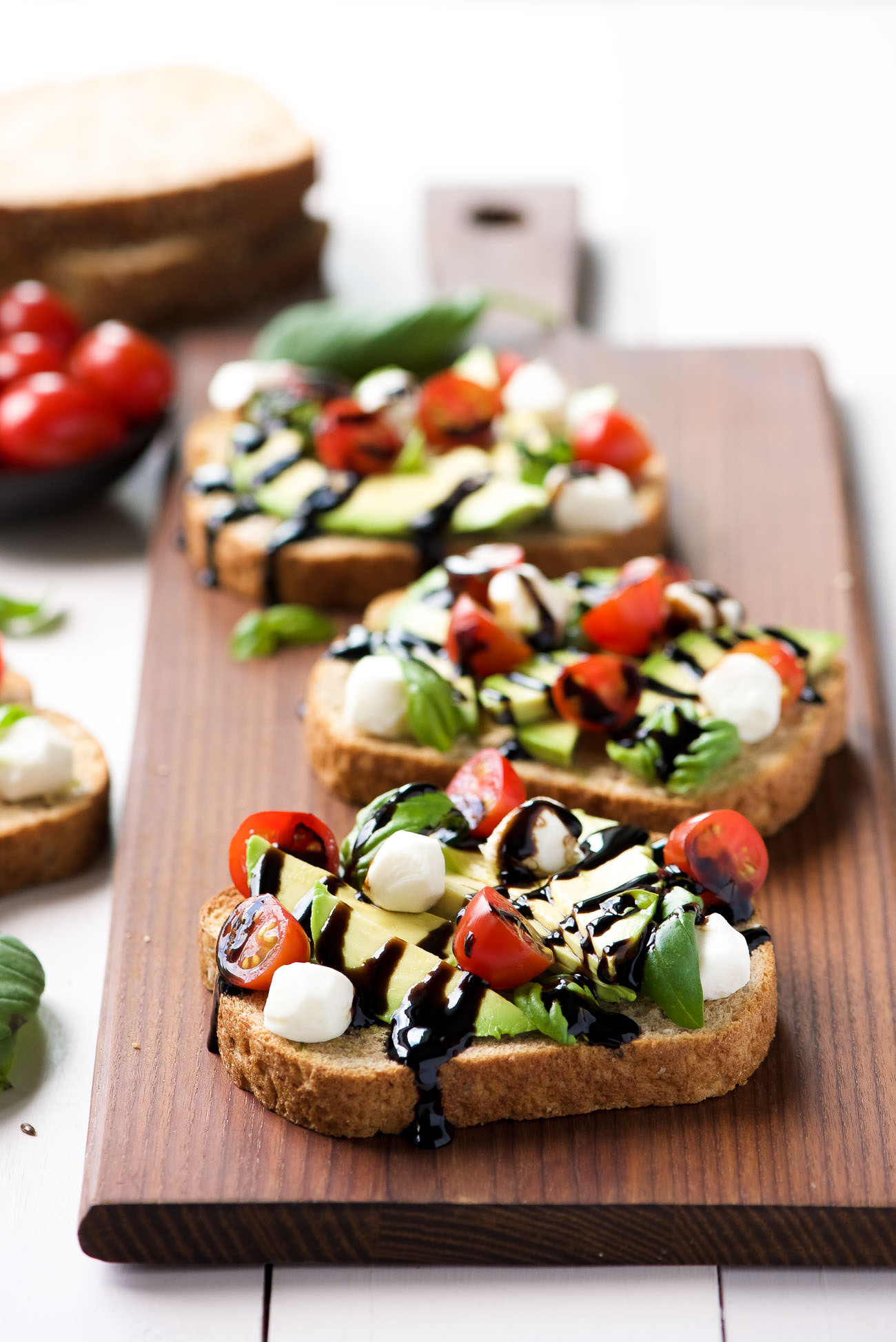 Caprese Avocado Toast With Salt And Wit