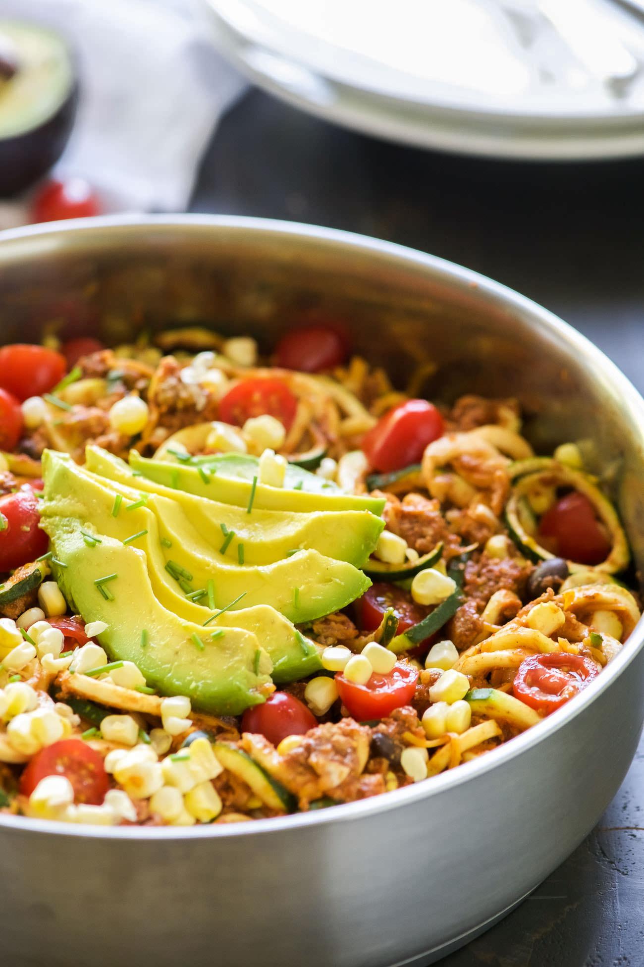 Taco Zucchini Noodles