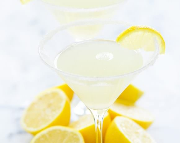 Sparkling Lemon Drop Martini