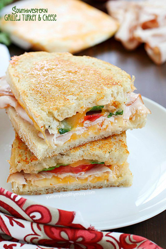Incredibly delicious Grilled Turkey and Cheese sandwiches with a southwestern flair and homemade chipotle mayo. This is a turkey sandwich unlike any other you've tasted…