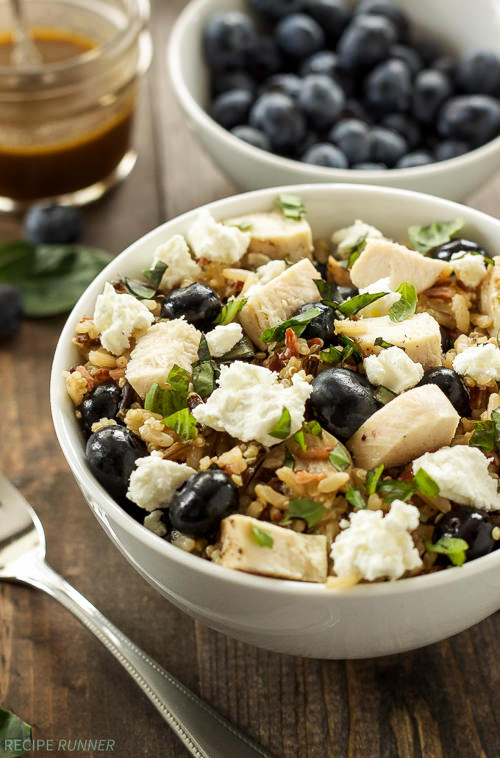This Blueberry Basil Rice Salad is a quick and easy whole grain lunch or dinner that comes together in minutes!