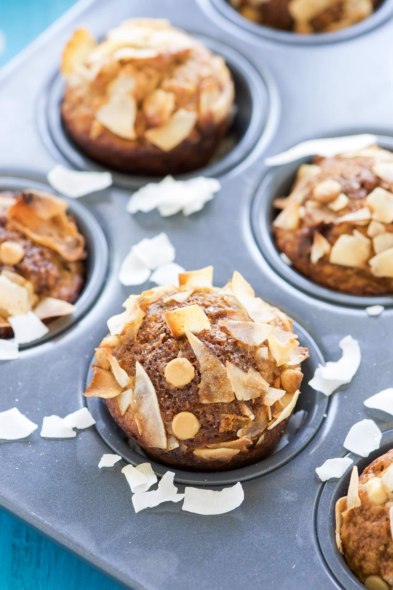 Okay let's talk a little about these muffins. First off, the ripest bananas are the BEST. I've already said it, but I'll say it again — when they are their ripest they are also at their sweetest. I've found when the skins are completely black they make for the very best banana baked good.