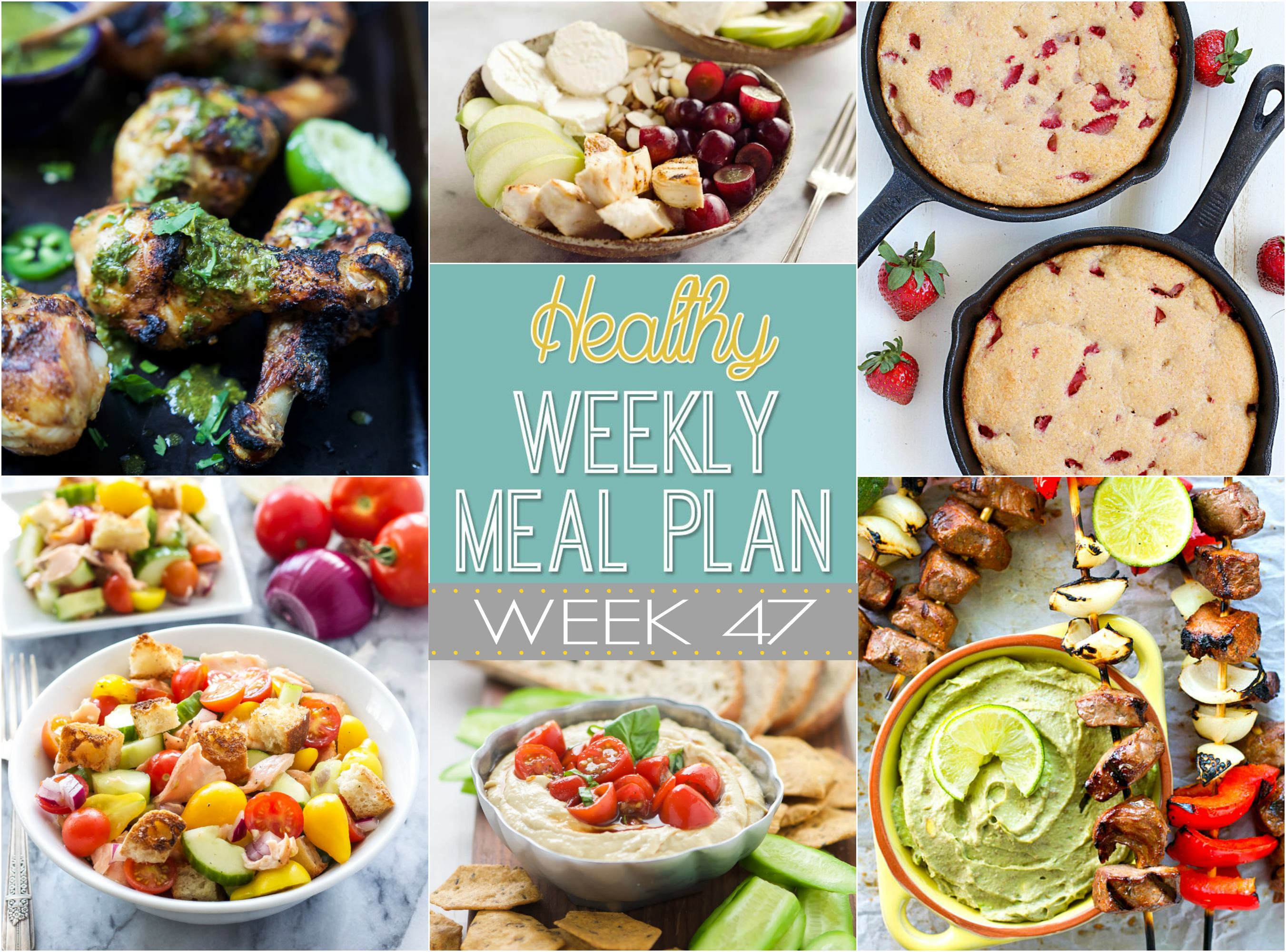 This week we have delicious meals filled with summer flavor; Such as grilled steak and pepper kabobs and Fruit & Goat Cheese Chicken Bowls!