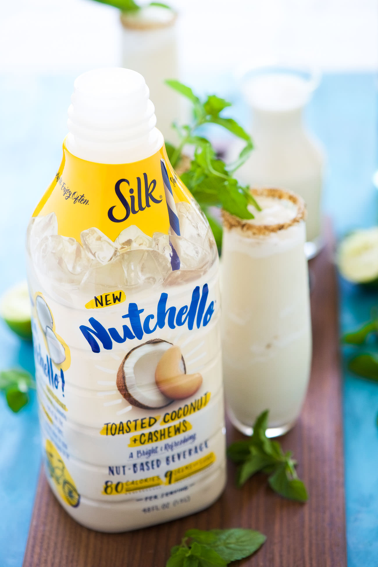 Toasted Frozen Coconut Mojito is a summer must have! Made lighter with ...