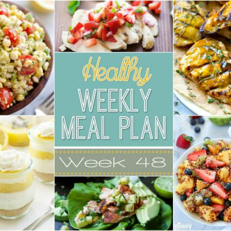 This week is filled with plenty of seasonal flavors! We have a Detox Summer Berry Salad, Grilled Chicken with Strawberry Mint Salas and Southwestern Salmon Lettuce Tacos!