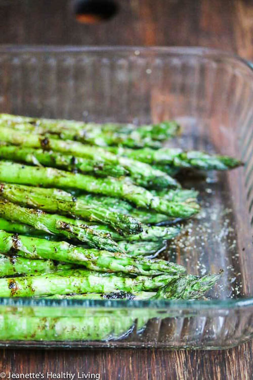 Grilled Asparagus with Balsamic Soy Butter Sauce | Jeanette's Healthy Living
