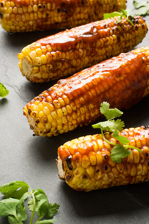 Grilled Corn with BBQ Sauce | The Lemon Bowl