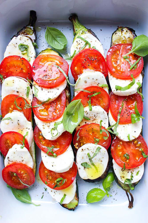 Grilled Zucchini Caprese | Little Broken
