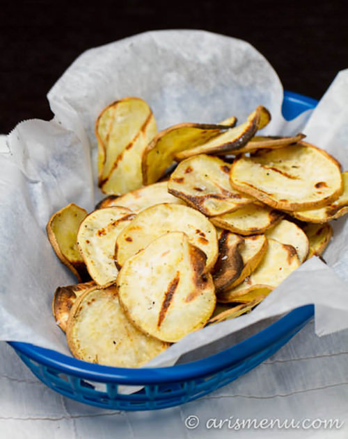 Grilled Sweet Potato Chips | Cotter's Crunch