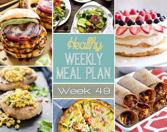 Healthy Meal Plan Week #49