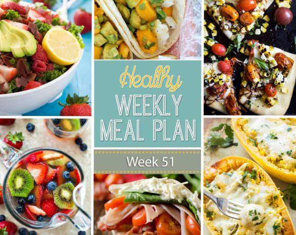 Healthy Meal Plan Week #51