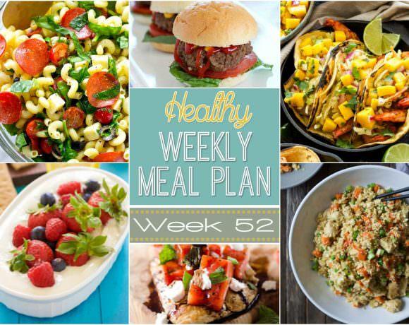 Healthy Meal Plan Week #52