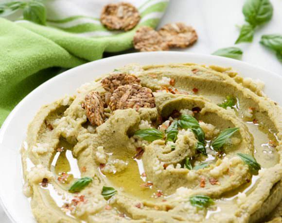 Spicy Basil Hummus
