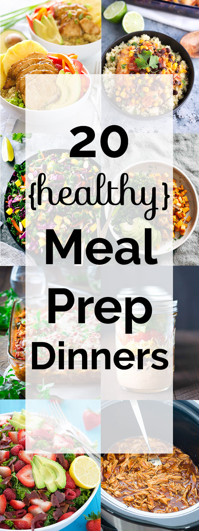 20 healthy meal prep dinners! All these meals are made for busy families on the run! Whether you enjoy meal prepping on Sunday, or enjoying leftovers from last night's dinner, all these meals fit the bill.