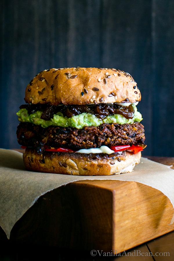 Black Bean Walnut Burgers   Vanilla and Bean