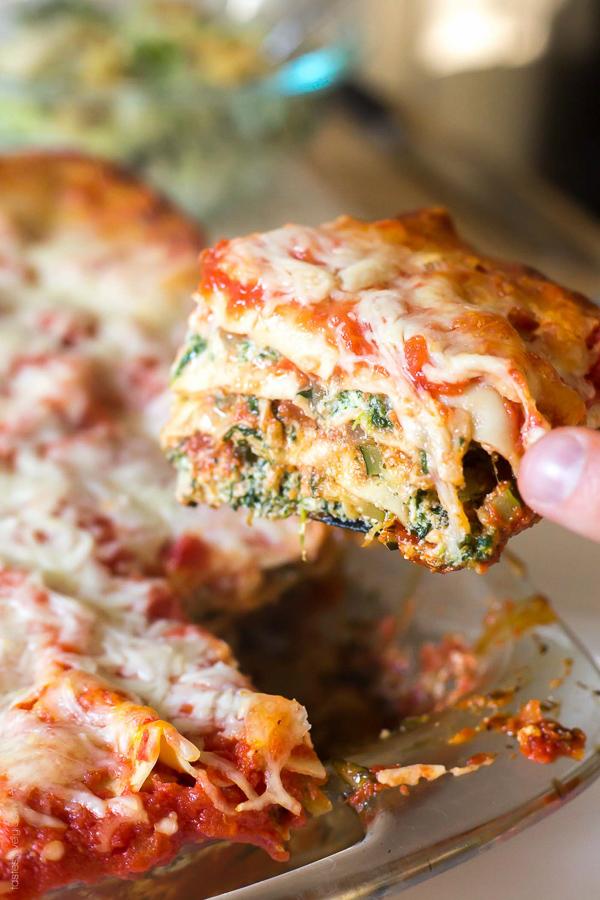 Garden Vegetable Lasagna | Tastes Lovely