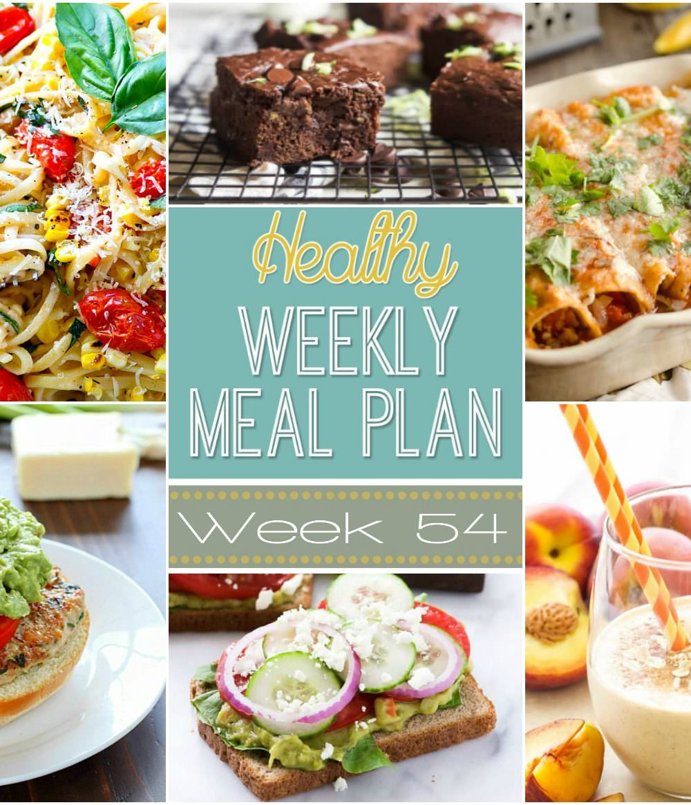 Week 54 is filled with end of summer produce goodies! Such as summer fettucini alfredo and zucchini chocolate chip brownies!