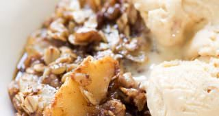 Caramel Apple Crisp {Vegan, Gluten Free}
