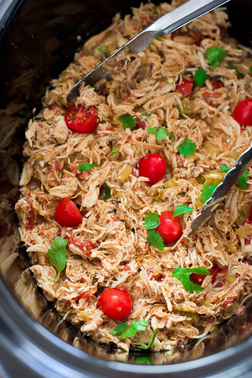 My Favorite Slow Cooker Shredded Mexican Chicken | With Salt and Wit