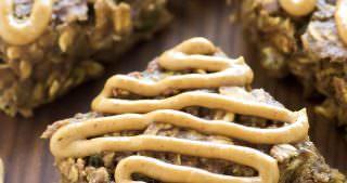 Peanut Butter Zucchini Bread Breakfast Bars