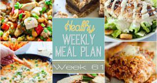 Healthy Meal Plan Week #61