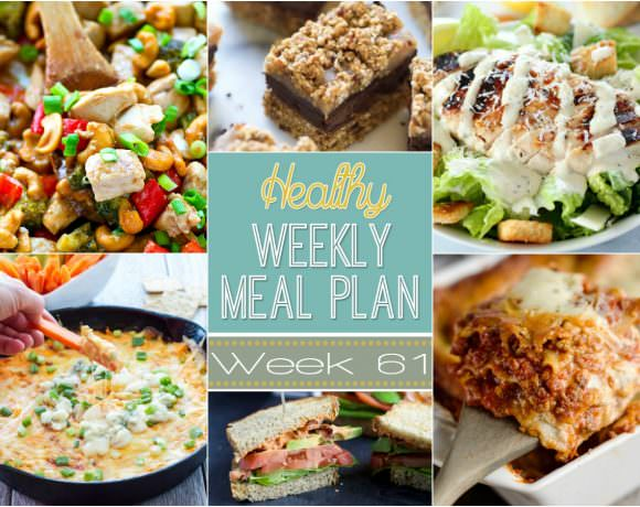 This week's Healthy Meal Plan is filled with hearty lasagna, pumpkin spice donut holes and a skinny buffalo chicken dip for those game day eats!