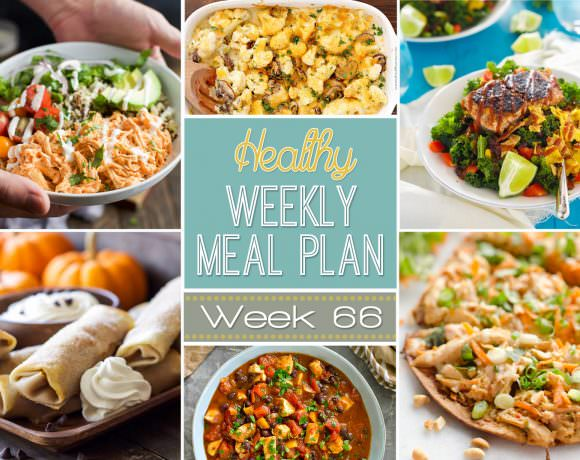 This healthy meal plan is filled with pumpkin egg rolls for that sweet tooth, and a festive Mummy Braid Pizza for snacking between trick or treaters!