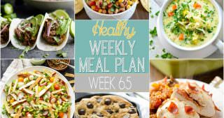 Healthy Meal Plan Week #65