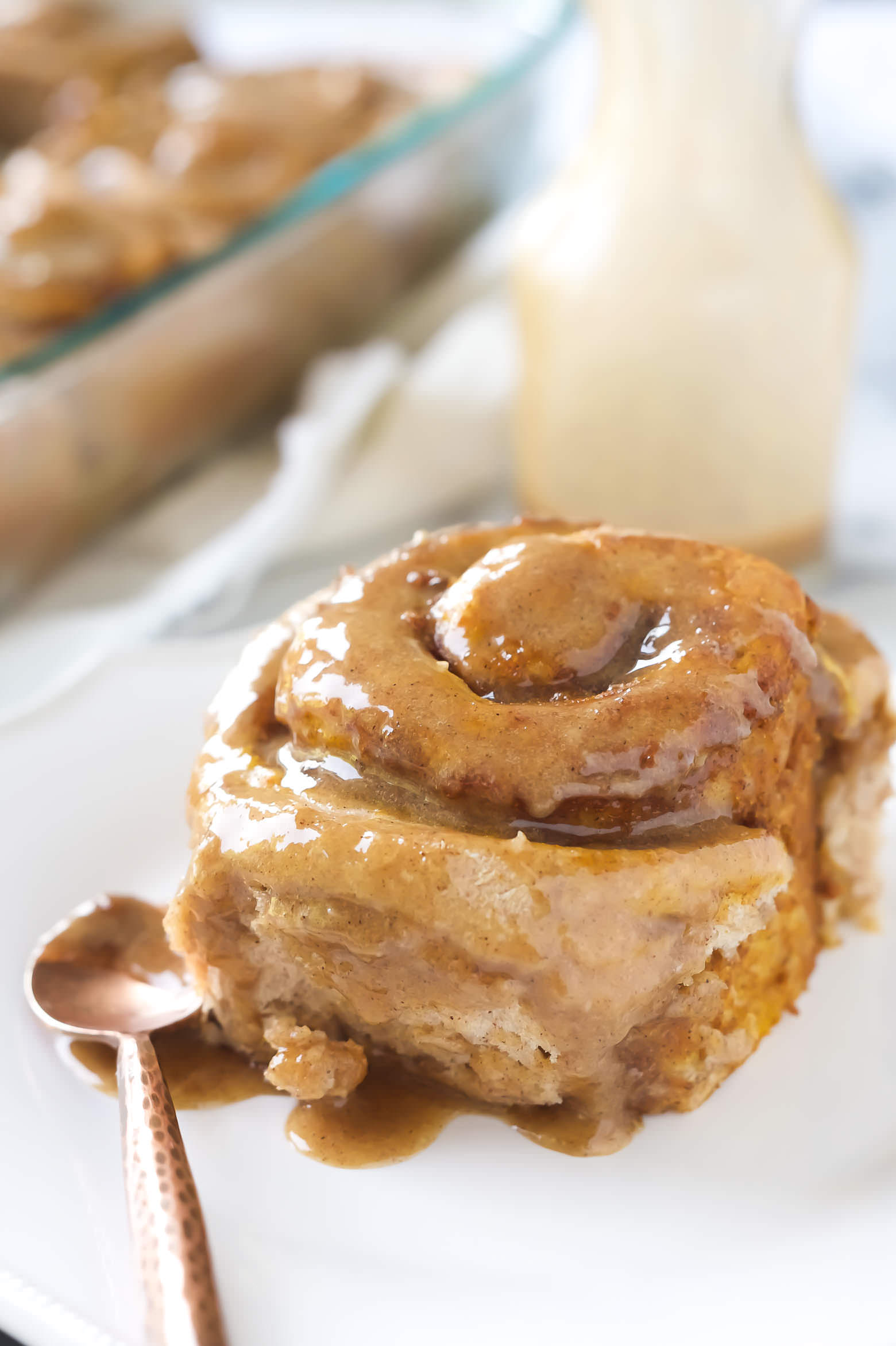 Pumpkin Cake Mix Cinnamon Rolls With Salt And Wit