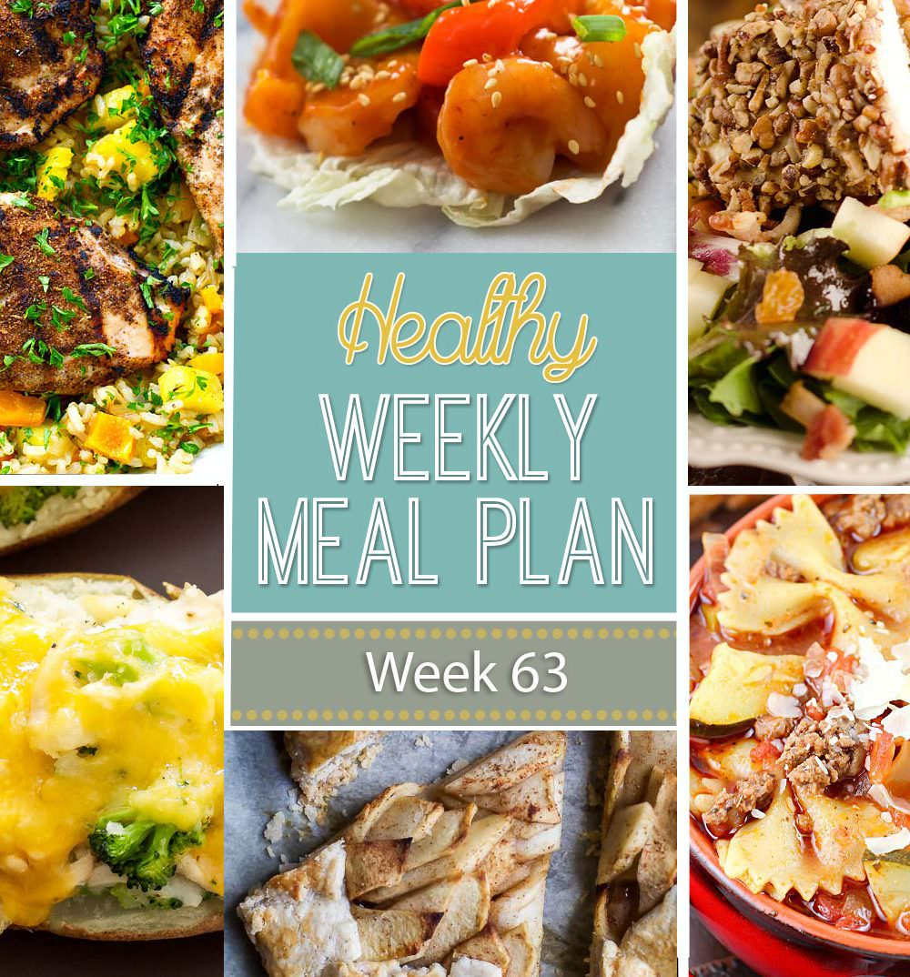 This weeks healthy meal plan is filled with cozy dishes to warm you up with these fall days! Broccoli cheddar stuffed potatoes, harvest fall salads and chocolate scones.