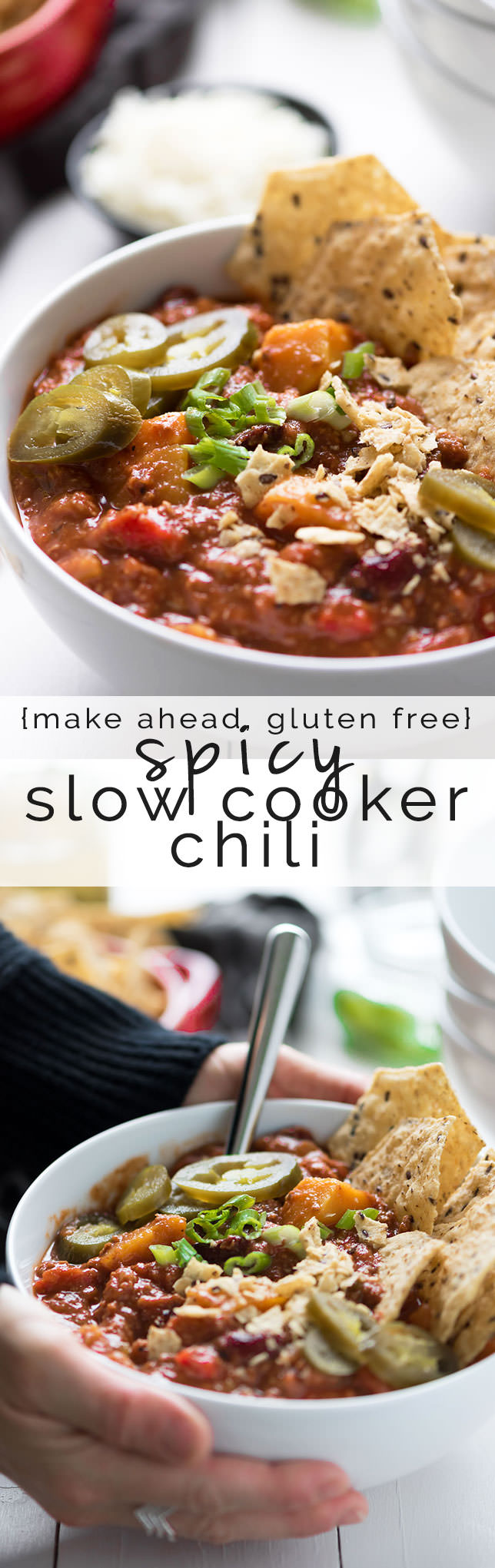 Easy Spicy Healthy Slow Cooker Chili Recipe, Chipotle Ground Turkey ...