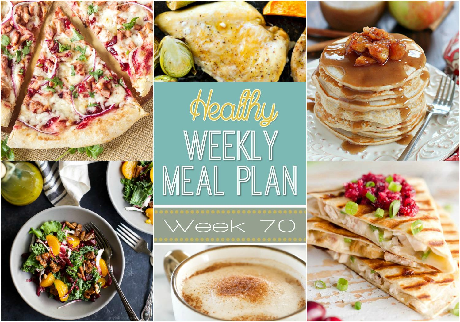 Healthy Meal Plan Week 70