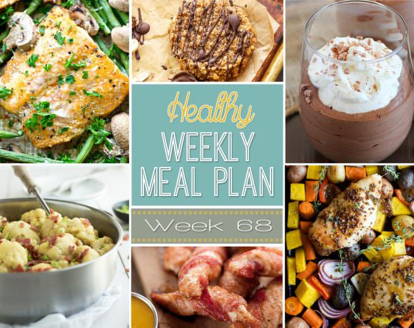 This weeks healthy meal plan is full of comforting dishes, such as Crock Pot Potato Corn Chowder with Roasted Poblanos and Sheet Pan Honey Mustard Chicken! And for dessert, a Chocolate Mousse with only 5 ingredients!