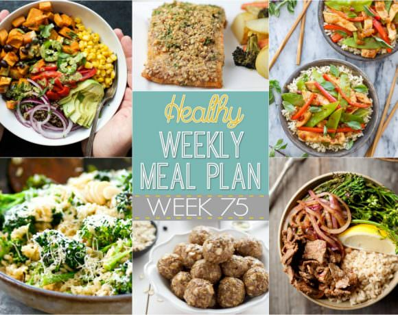 Healthy Meal Plan Week #75