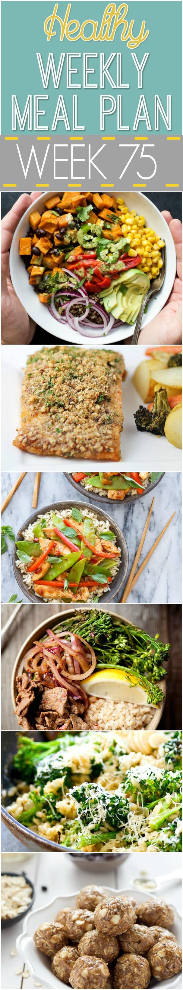 A week full of Sweet Potato Black Bean Quinoa Bowls, Vanilla Espresso Energy Bites and Garlic Broccoli Parmesan Risotto!